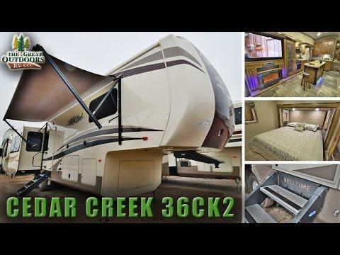 Rear Living Room 2018 FOREST RIVER CEDAR CREEK 36CK2 Fifth Wheel Colorado Dealer