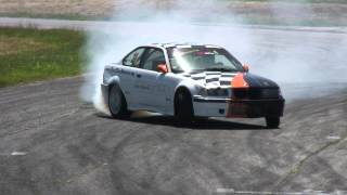 Stefan Tsankov BMW E36 Turbo - Close-to-the-Wall Drift