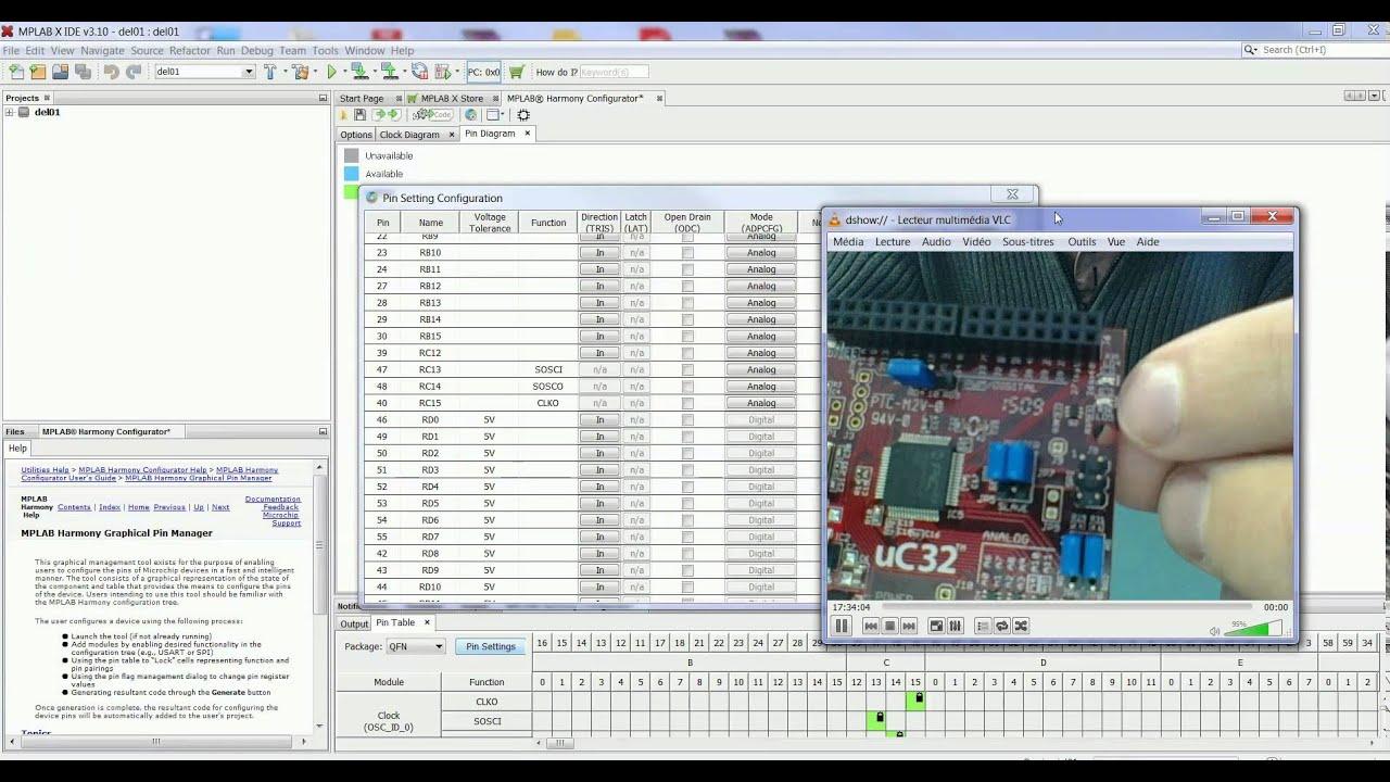 01- Tutoriel Microchip harmony - Uc32 chipKIT DIGILENT (nov 2015)