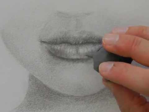 Drawing mouths:How to Draw a Realistic Lips With Pencil ... Pencil Drawings Of Lips Smiling