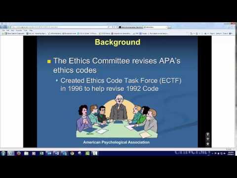 PSY 215 Module 8 APA Ethics Code