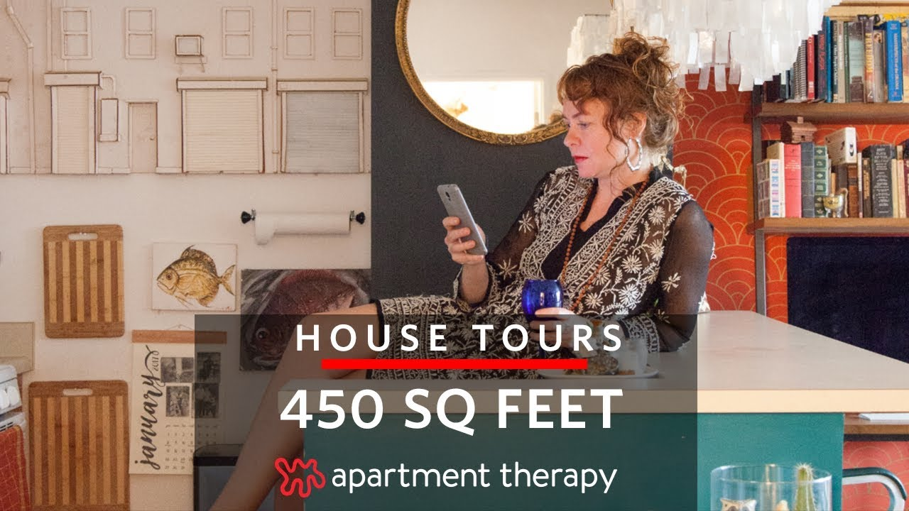 An Artist S 450 Square Foot Apartment House Tours Therapy