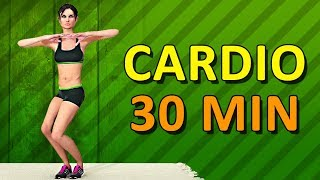 Cardio Workout At Home - 30 Min Aerobic Exercise