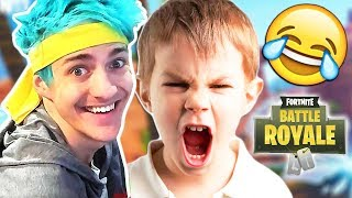 SQUEAKER SAYS HE'S NINJAS BROTHER! (Fortnite Funny Trolling)