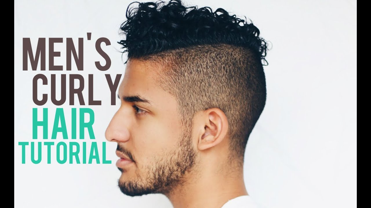 men's curly hair tutorial products