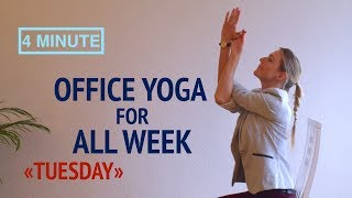 """Office Yoga for All Week """"Tuesday"""""""