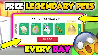 How To Get FREE LEGENDARY PETS *EVERYDAY* In ADOPT ME! (Roblox)