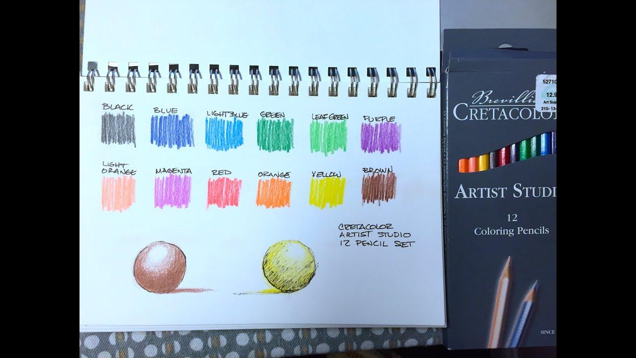 Colouring pencils for adults reviews - Cretacolor Colored Pencils Review