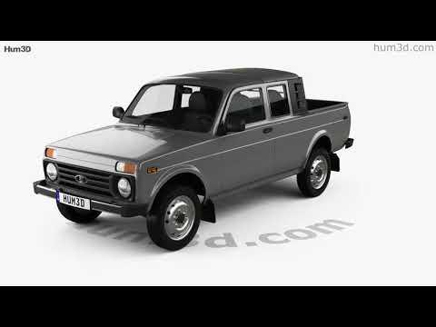 VAZ Lada Niva 4x4 2329 Pickup 2015 3D Model By Hum3D.com