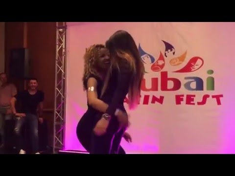 LA ALEMANA Y DESIREE  BACHATA DANCE AT  DUBAI LATIN FESTIVAL 2016