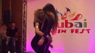 LA ALEMANA Y DESIREE  BACHATA DANCE AT  DUBAI LATIN FESTIVAL 2016