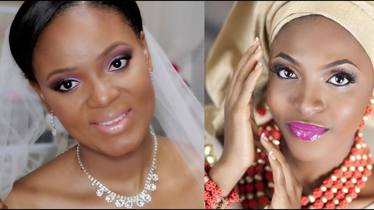 How To Nigerian Wedding Makeup - YouTube