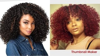 How to thin a curly synthetic wig + add bangs ft. Sensationnel Show Stopper wig