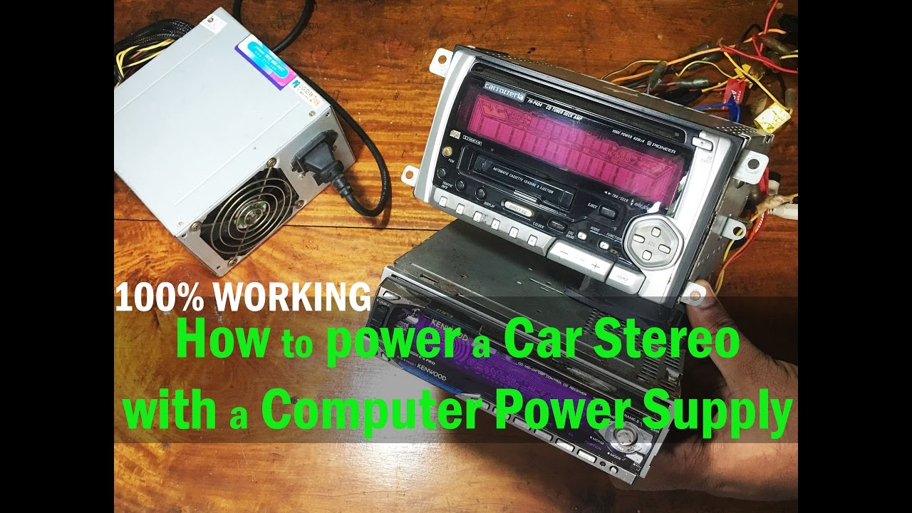 How To Power A Car Stereo With Computer Supply 100 Working Old Wiring Colors