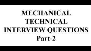 Mechanical Engineering Interview  technical Question # Campus Placement.
