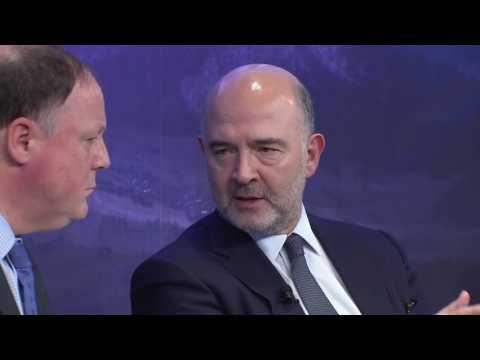 Il world economic forum di Davos: dibattito con Pierre Moscovici