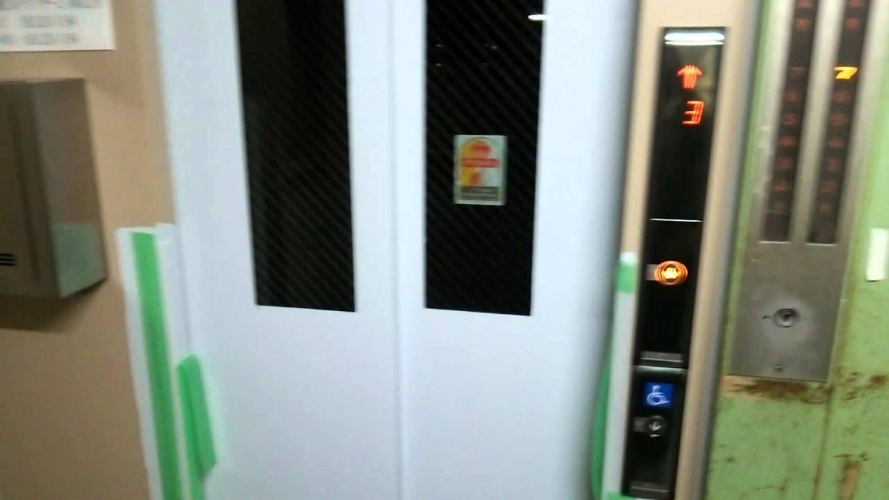 貴重)三菱エレベーターと東芝エレベーターの並び① - YouTube