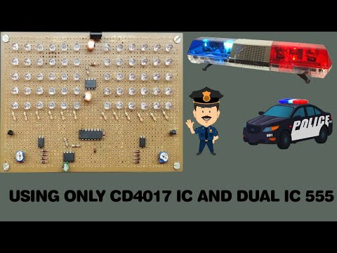 HOW TO MAKE REALISTIC POLICE 🚨 LIGHT FLASHER [USING ONLY CD4017 IC AND DUAL IC 555]