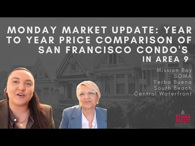 Monday Market Update: Year to Year Comparison of San Francisco Condos in Area 9