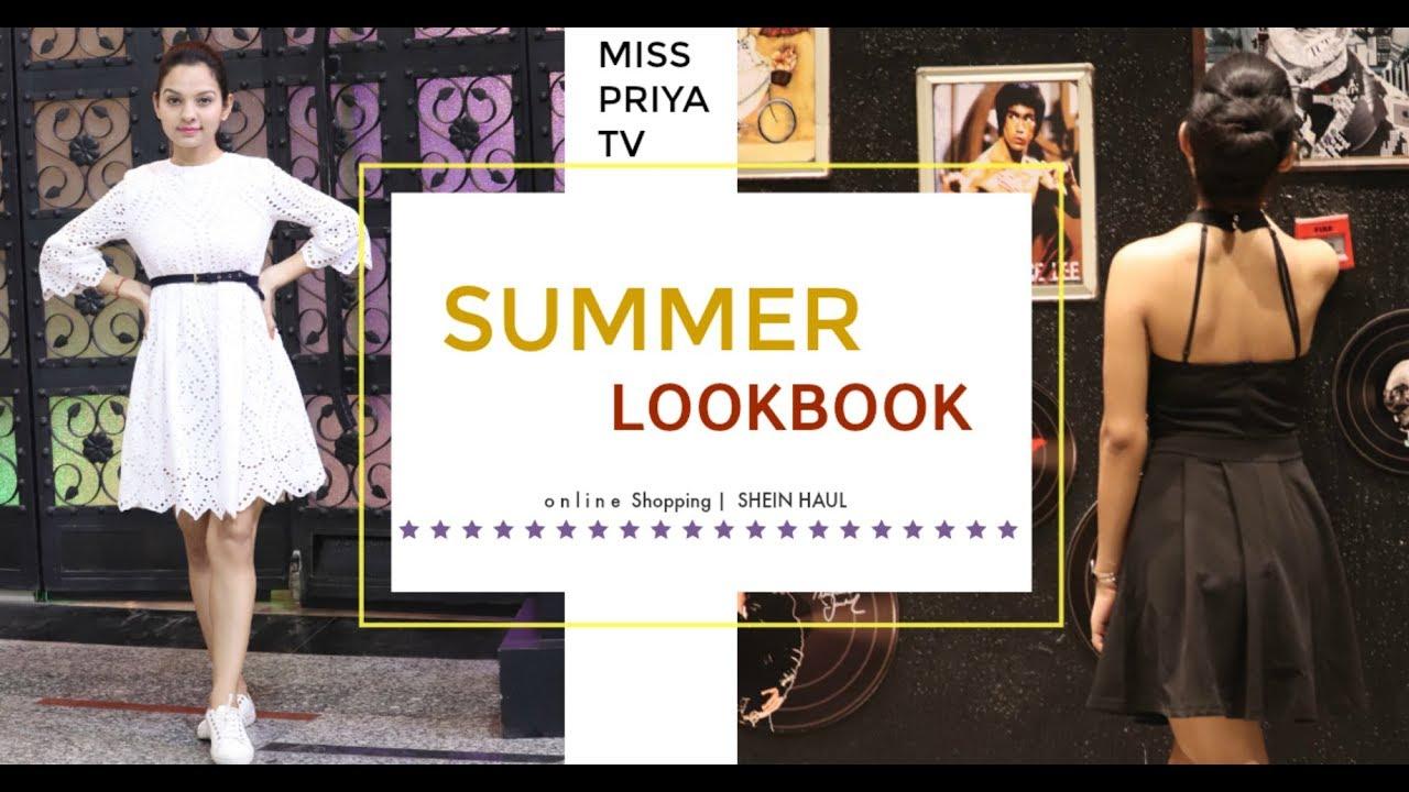 469c4d8a5ffd SUMMER LOOKBOOK 2018 | SHEIN Best Outfits For Girls| Miss Priya TV ...