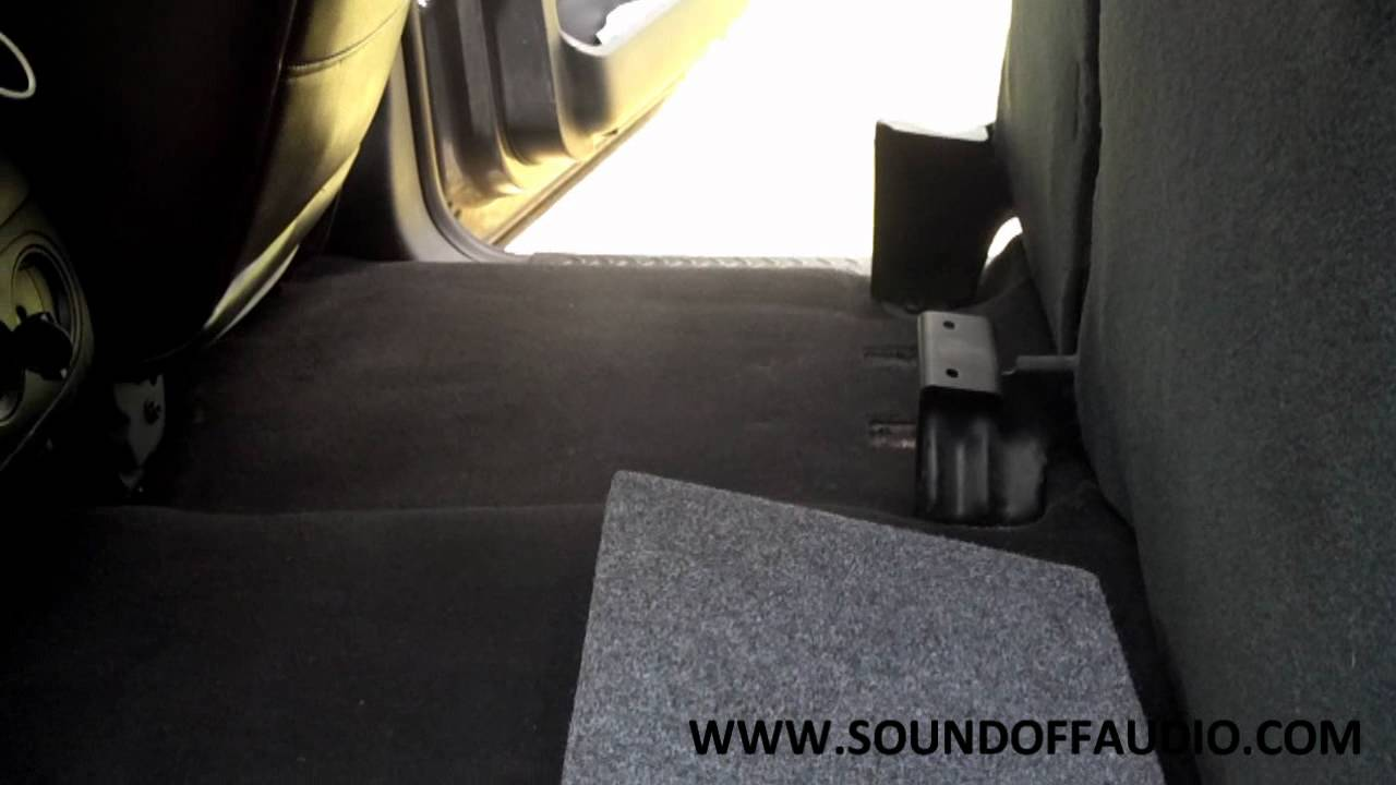 2004 2008 Ford F150 Supercab Or Supercrew Subwoofer Box Youtube 2015 F 150 Kicker