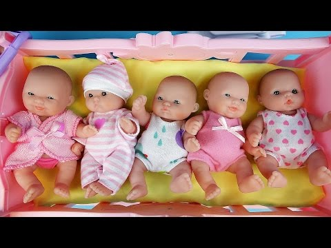 Thumbnail: Baby Doll Baby Sitter toy play and Kinder JoySurprise eggs