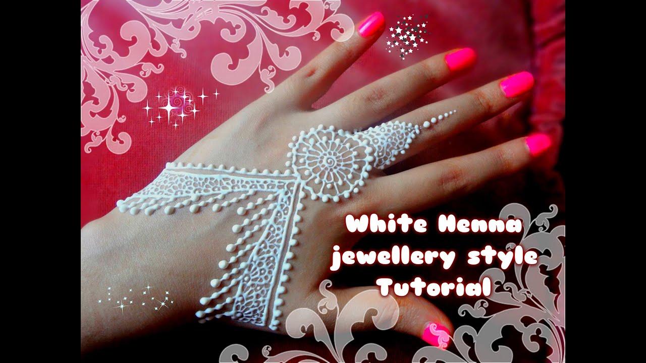 White henna design 5 five white henna designs - Easy Diy Best And Beautiful White Henna Jewellery Style Tutorial For Eid Weddings