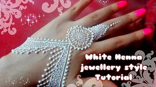 easy diy best and beautiful white henna jewellery style tutorial for eid weddings