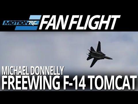Repeat Freewing F-4D Phantom II - Off Grass Flight - Motion