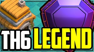 Town Hall 6 LEGEND in Clash of Clans - HOW He Did It!