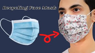 Face Mask Recycling How To Make A 3 Layer Face Mask DIY Face Mask Homemade Face Mask