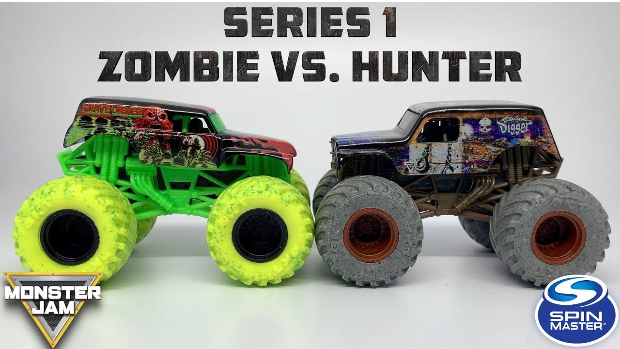 Spin Master Monster Jam Zombie Vs Hunter Series Mix 01 2020 Youtube