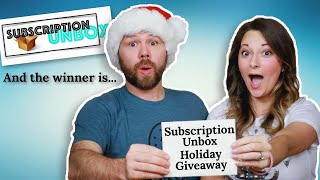 Subscription Unbox Holiday Giveaway! And the winner is...