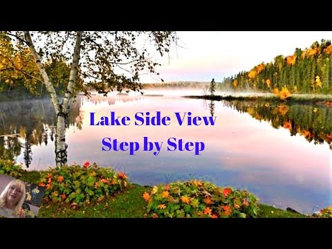 How to paint Landscape Reflections  Acrylic Painting for Beginners Step by Step, Part1
