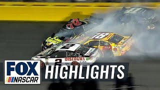 Kyle Busch & other top contenders taken out in multi-car wreck | 2018 All-STAR RACE | FOX NASCAR