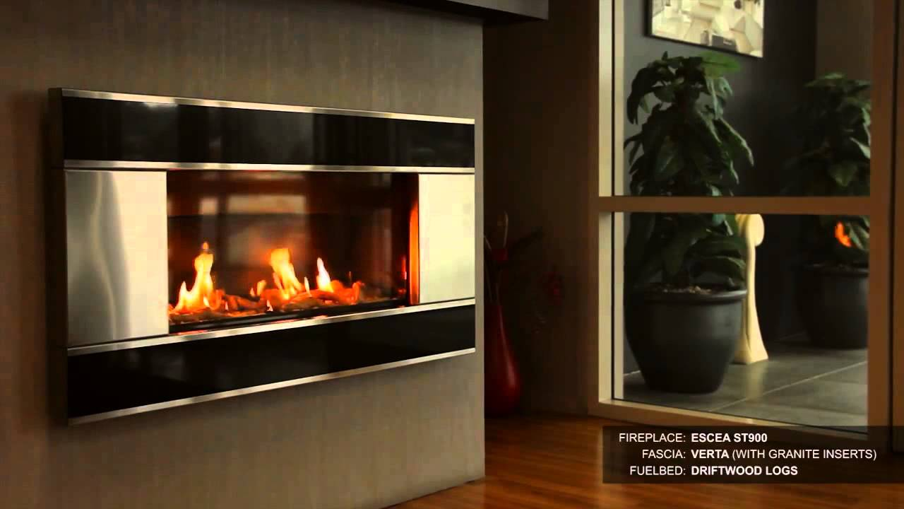 The Escea ST900 Modern Direct Vent Indoor Gas Fireplace