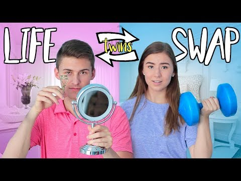 Opposite Twins Swap Lives For A Day!!
