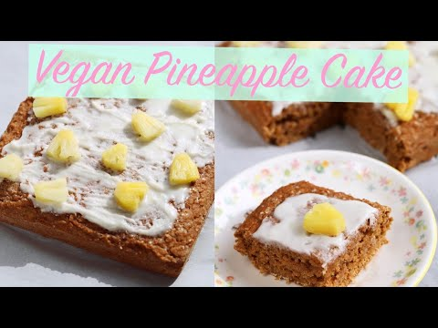 vegan-pineapple-cake-(oil-free,-low-fat,-refined-sugar-free)
