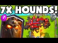 Clash Royale 7 LAVA HOUNDS | LavaLoonion Strategy Gameplay (New Update Maxed Lvl Legendary Cards)