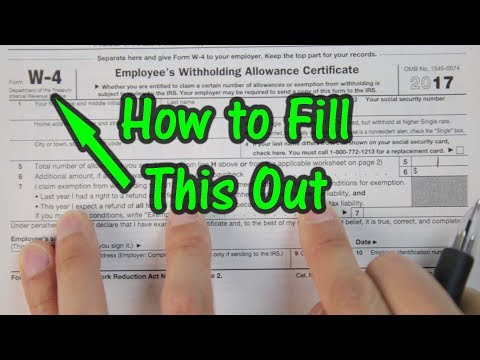 How to Fill Out Your W4 Tax Form