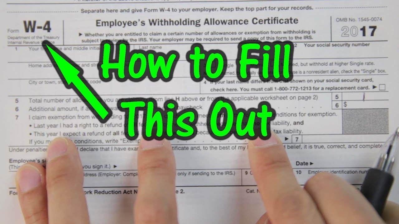 How to fill out your w4 tax form youtube how to fill out your w4 tax form falaconquin