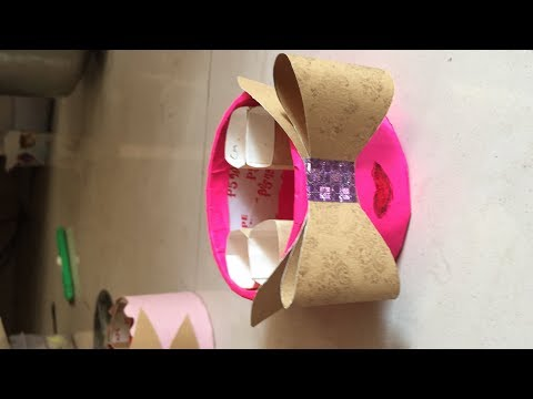 Making lipstick stand out of cello tape roll