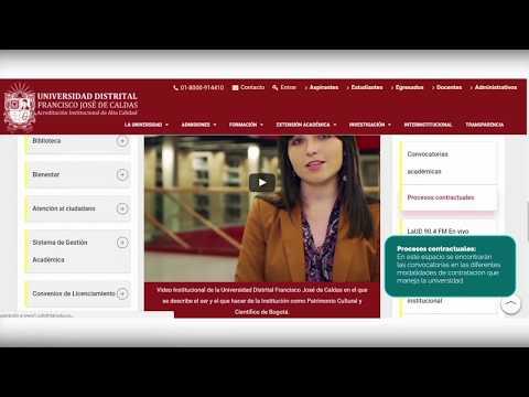 Tutorial de uso del Portal Web Institucional