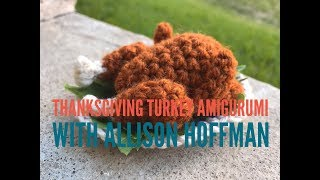 Roast Thanksgiving Turkey Amigurumi w/ CraftyisCool's Allison Hoffman! (Super Cute!)