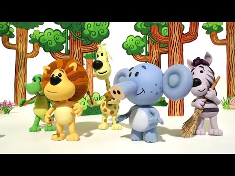 Raa Raa The Noisy Lion | Ooo Ooo's Jungle Drums | Full Episodes | Kids Cartoon | Videos For Kids