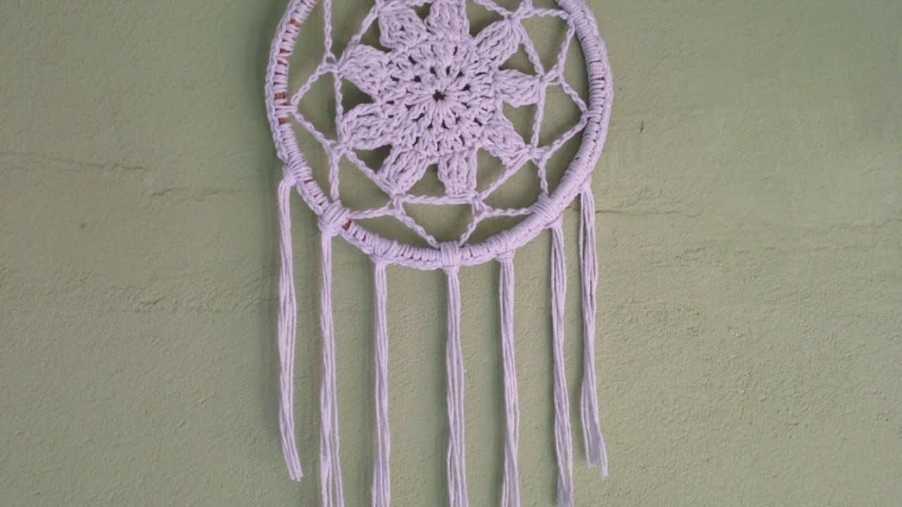 Dream Catcher Maker How To Crochet A Gorgeous White Dream Catcher DIY Crafts 16