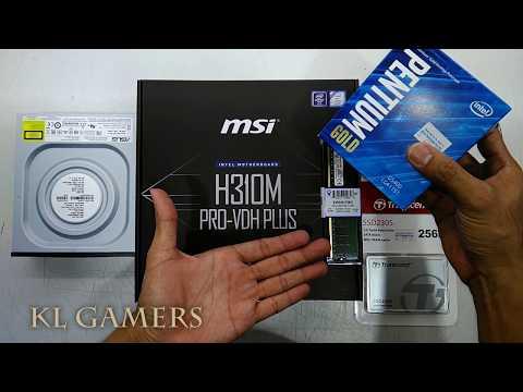 intel PENTIUM GOLD G5400 8GB DDR4 msi H310M PRO-VDH PLUS Transcend SSD DVD-RW Budget Office PC