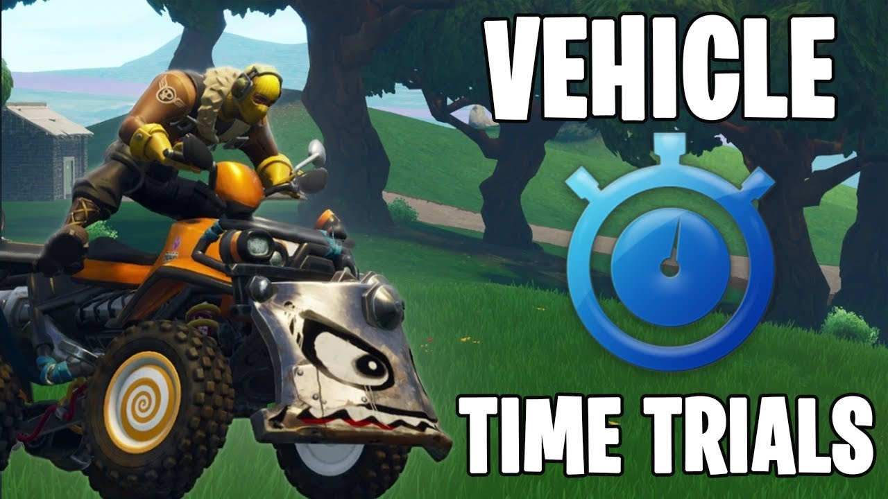 All Vehicle Time Trials In Fortnite Complete Vehicle Timed Trials