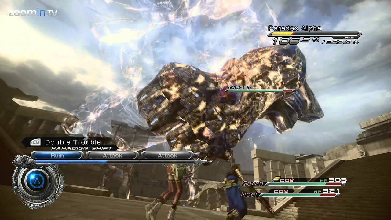 Final Fantasy XIII-2 - Gameplay highlights (Xbox360 1080p) - YouTube