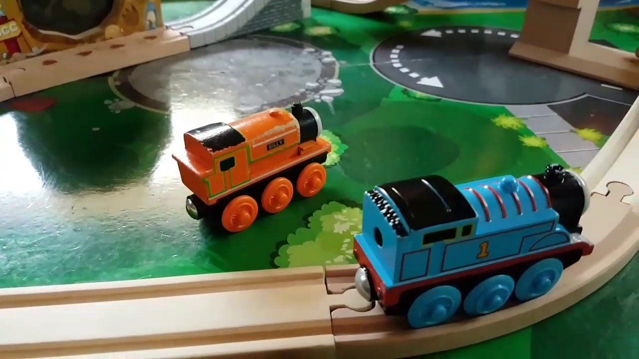 Thomas And Friends Wooden Railway With Lifting Bridge Percy On Top Of The Rocky Mountain